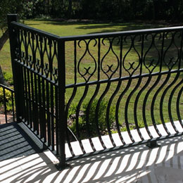 Ornamental Exterior Railings in Casey Key Florida