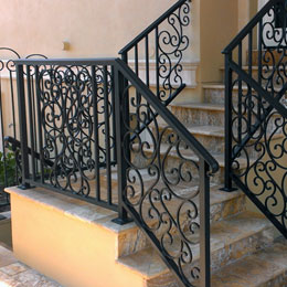 Exterior Iron Railings in Venice Florida